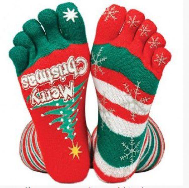 Vánoční prstové ponožky