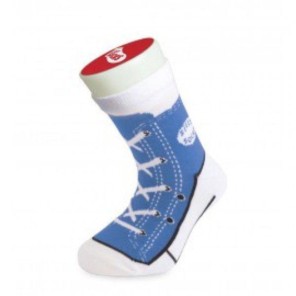 Bláznivé ponožky - basket - modrá