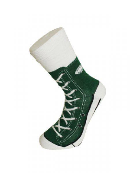 Bláznivé ponožky - basket - zelená