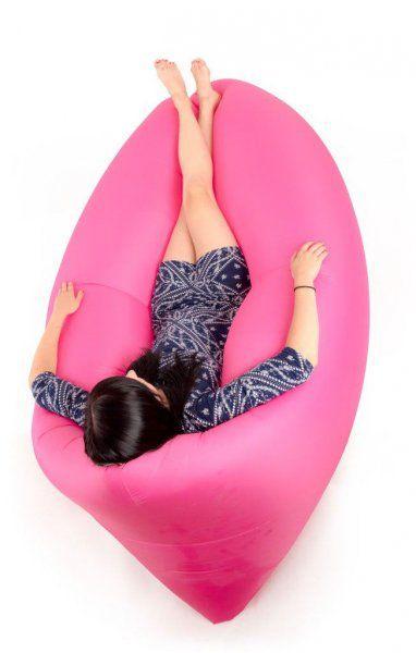 Nafukovací vak Lazy bag dvouvrstvý - růžový