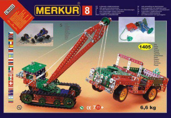 MERKUR 8 Stavebnice 130 modelů 1v krabici 54x36,5x8,5cm