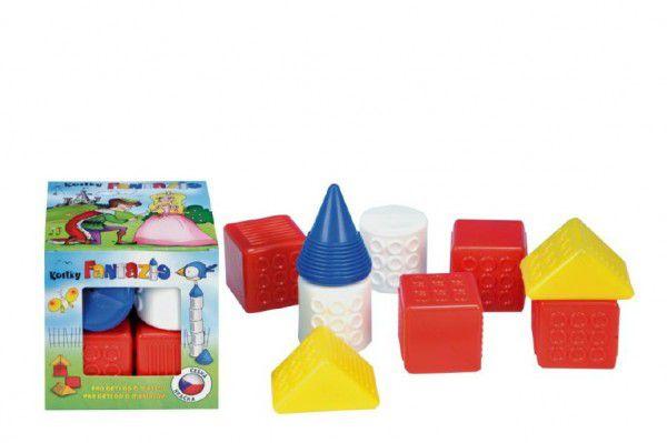 Fantazie Kostky kubus plast 9ks v krabičce 12x12x12cm 6m+