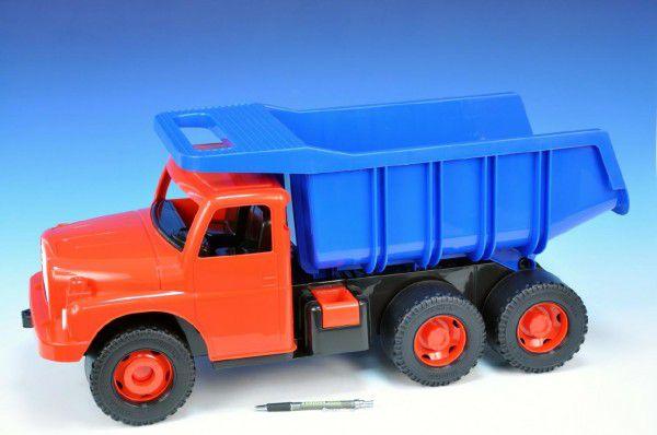 Tatra 1Auto plast 73cm v krabici - červená kabina modrá korba