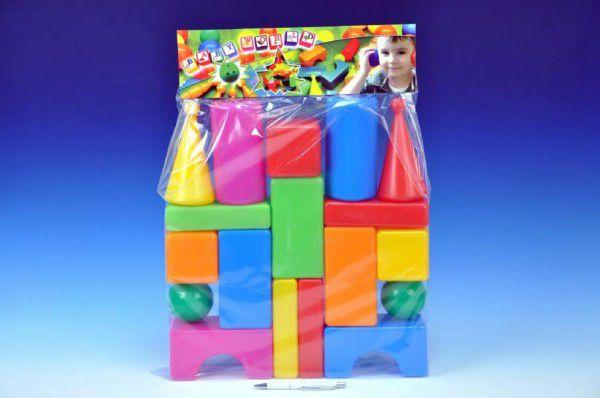 Teddies kostky velké 18 ks plast v sáčku
