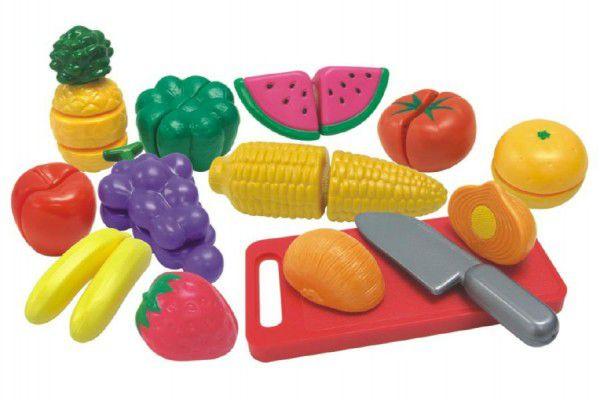 Teddies Krájecí ovoce a zelenina 40x27x6cm s nádobím plast 25ks v krabici