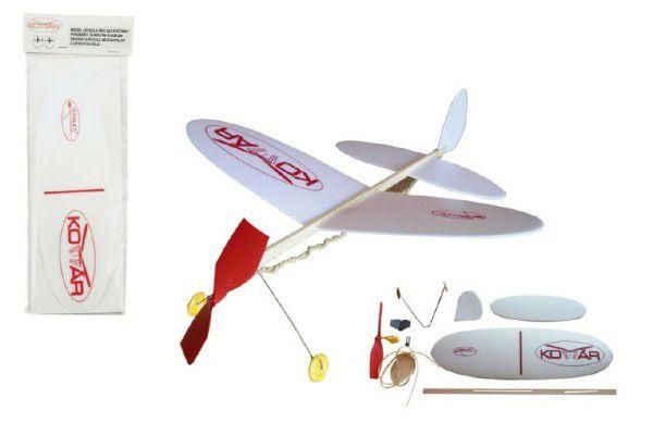 Komár Letadlo model na gumu polystyren/dřevo 38x31cm v sáčku