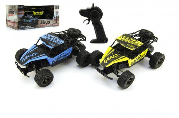 RC Buggy Auto plast/kov 20cm s adaptérem na baterie