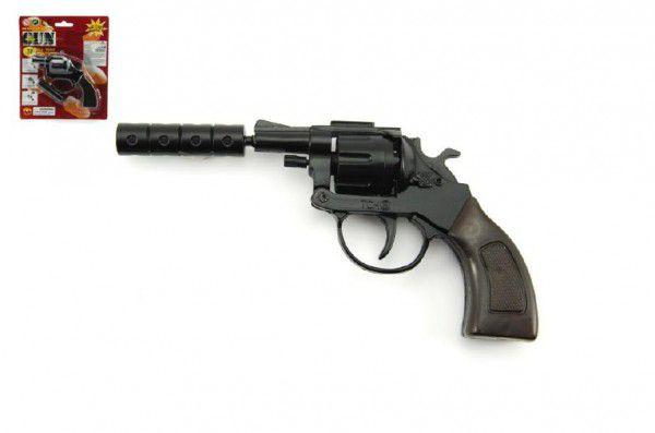 Teddies Pistole na kapsle 8 ran kov 12cm na kartě