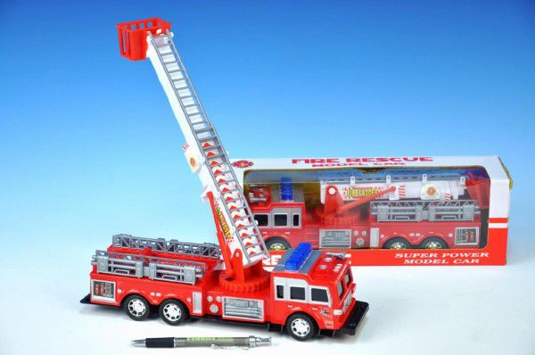 Teddies Auto hasiči plast 30 cm na setrvačník