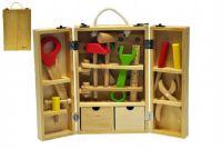 Nářadí dřevo 30ks v dřevěném kufříku 31,5x20,4x7,7cm