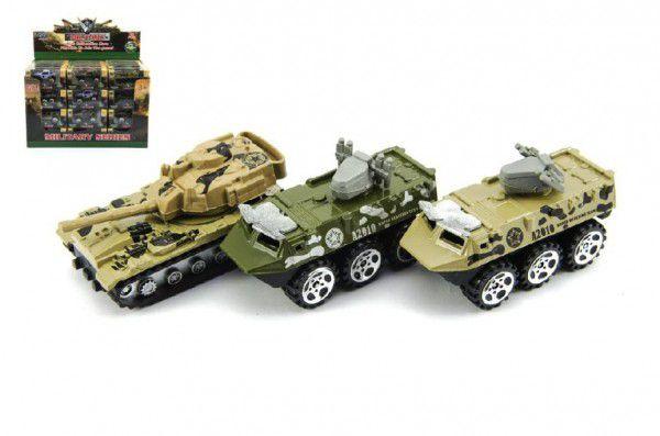 Teddies Tank/Auto vojenské/Obrněný transportér kov 7cm