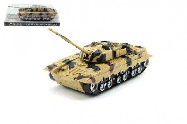 Teddies Tank plast 27cm na setrvačník na baterie se světlem se zvukem