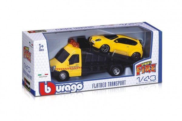 Auto/kamion Bburago odtahovka + auto
