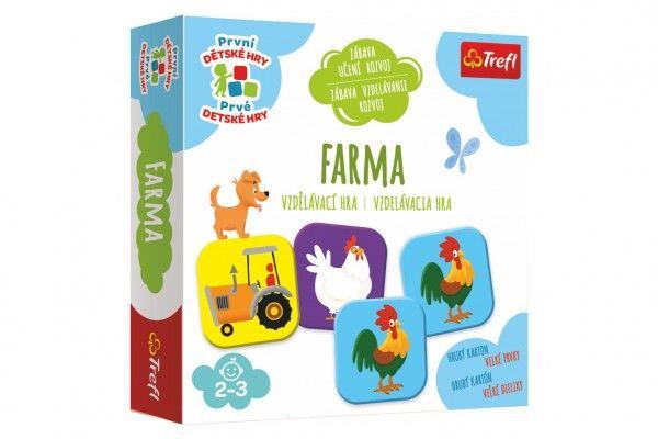 Farma, vzdělávací společenská hra pro nejmenší, 24m+