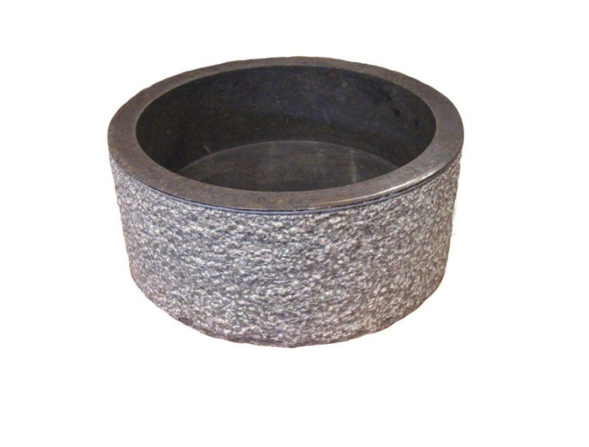 Indera MIRUM 509 Ø45 cm Black Umyvadlo z přírodního kamene