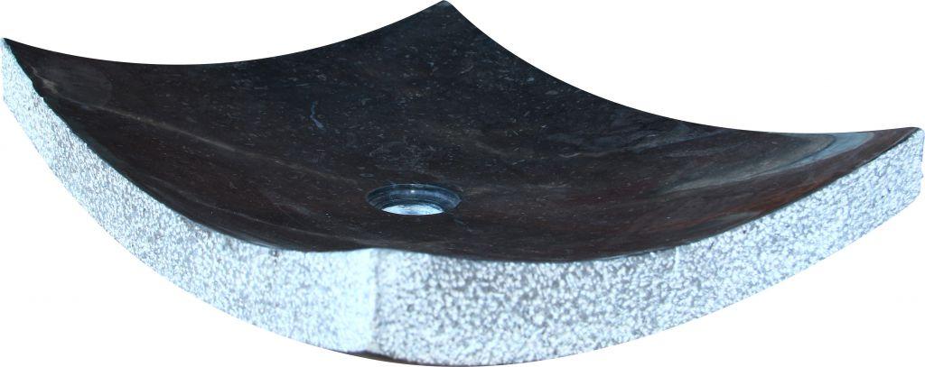 Indera Zen Black 57047 Umyvadlo z přírodního kamene