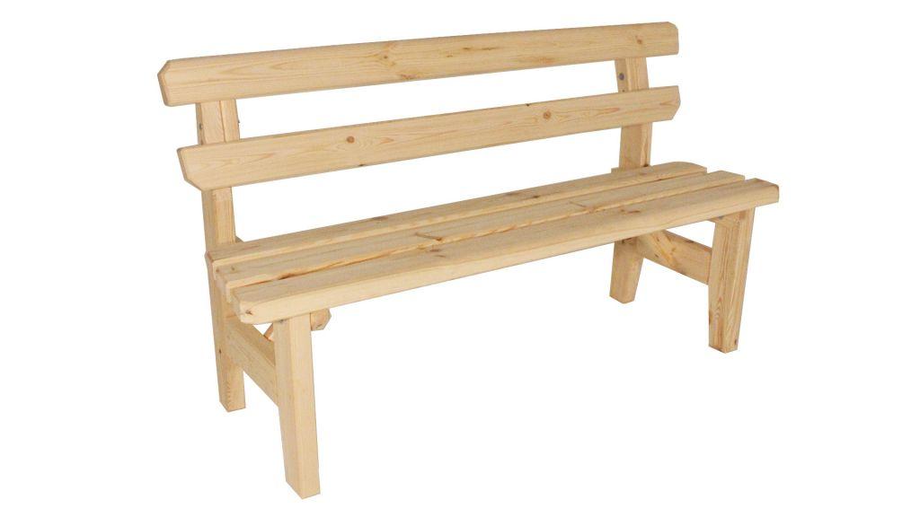 Gaboni Eduard 55482 Zahradní dřevěná lavice - bez povrchové úpravy - 150 cm