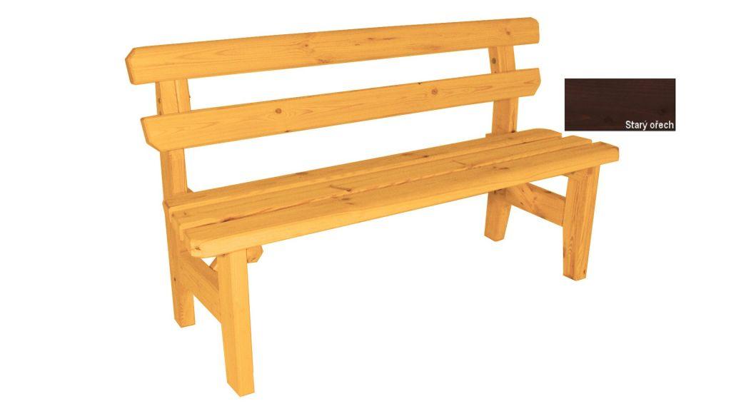 Gaboni Eduard 55483 Zahradní dřevěná lavice - s povrchovou úpravou - 150 cm