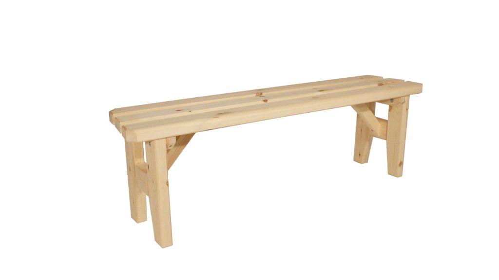 Gaboni Eduard 55484 Zahradní dřevěná lavice bez opěradla - bez povrchové úpravy - 150 cm