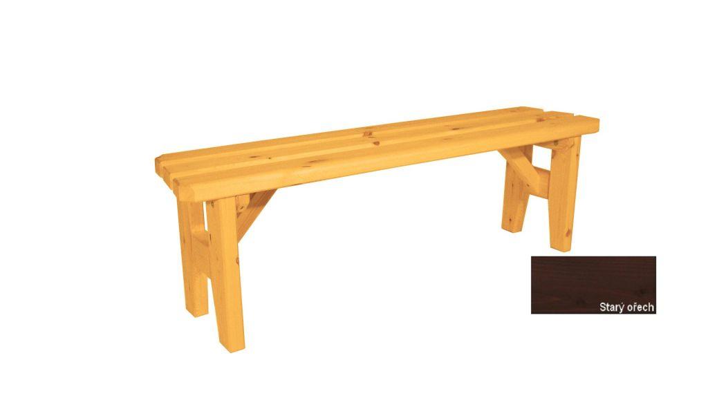 Gaboni Eduard 55485 Zahradní dřevěná lavice bez opěradla - s povrchovou úpravou - 150 cm