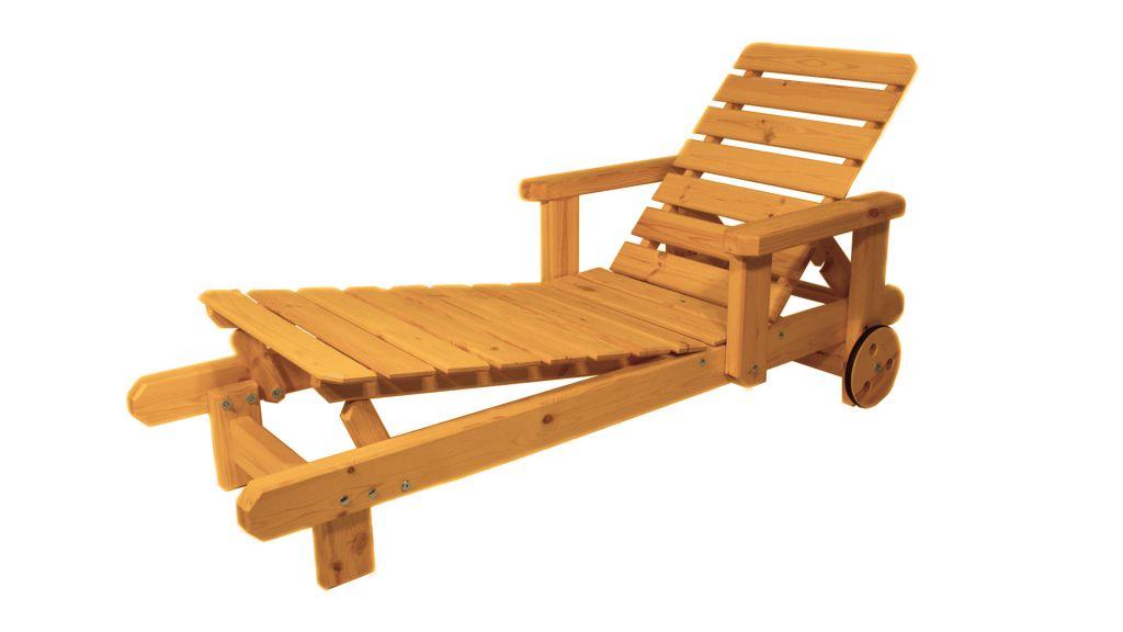 Gaboni 55495 Zahradní dřevěné lehátko - s povrchovou úpravou