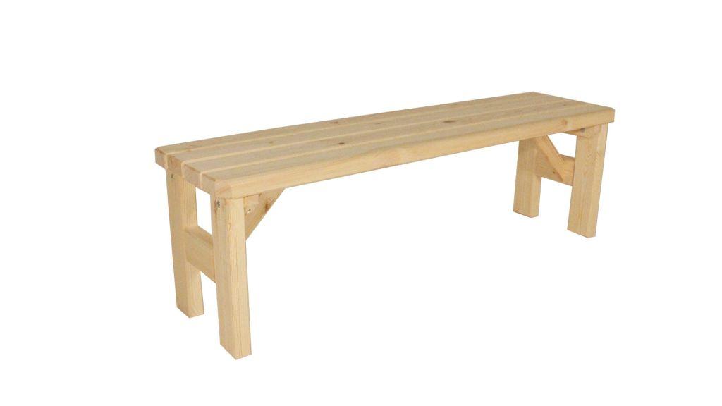 Gaboni Darina 55571 Zahradní dřevěná lavice bez opěradla - bez povrchové úpravy - 150 cm