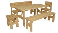 Zahradní dřevěný set Darina- bez povrchové úpravy