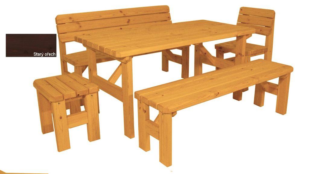 Gaboni Darina 55578 Zahradní dřevěný set - s povrchovou úpravou