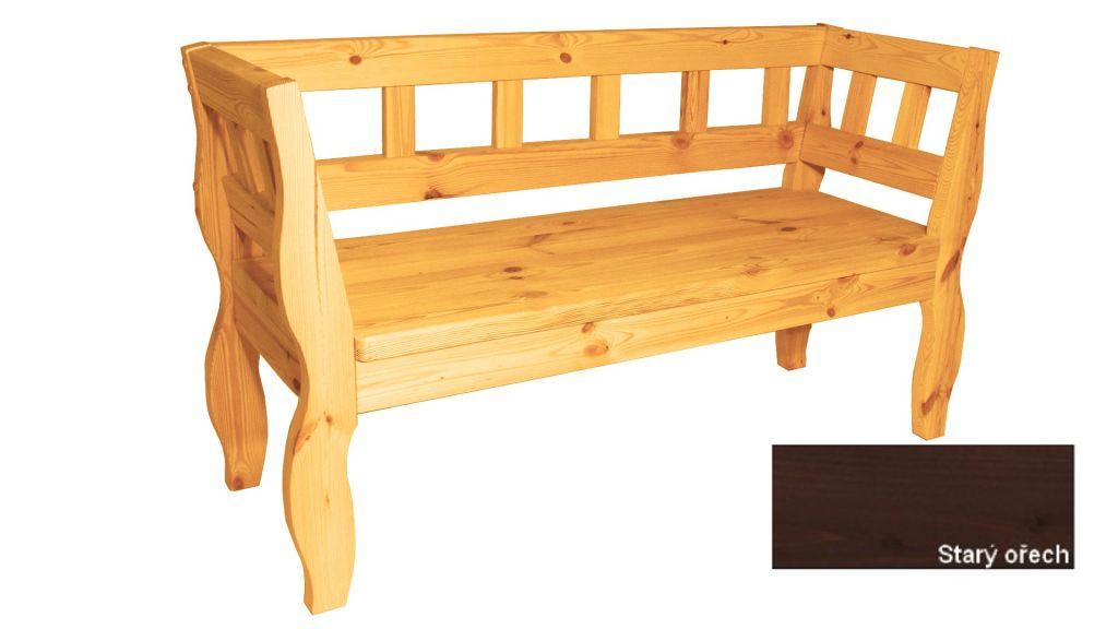 Gaboni RETRO 55582 Zahradní lavice s povrchovou úpravou - 157 cm