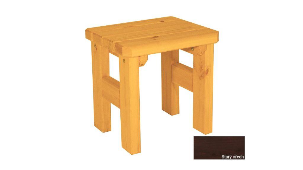 Gaboni Darina 55590 Zahradní dřevěná stolička - s povrchovou úpravou