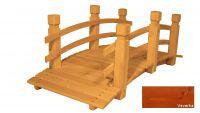 Zahradní dřevěný most - VEVERKA - 149 cm