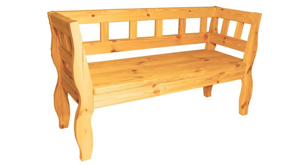 Zahradní RETRO lavice s povrchovou úpravou  157cm - BOROVICE
