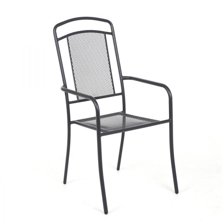 Home & Garden Zahradní kovová židle Venezia - antracit (DS75734857)
