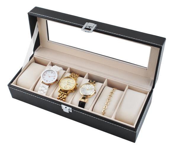 Organizér na hodinky a bižuterii - 6 přihrádek