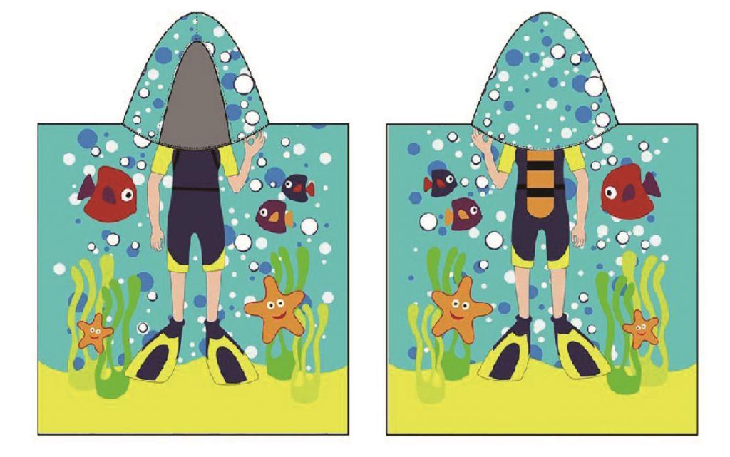 Plážová osuška - dětská PONČO