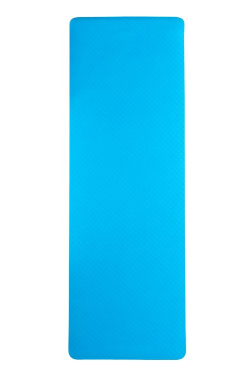 Dvouvrstvá podložka na jógu 183 x 61 x 0,6 cm - MODRÁ