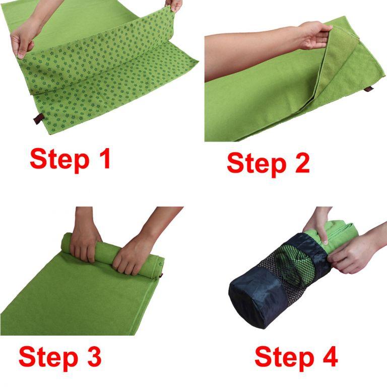 Protiskluzový ručník na jógu