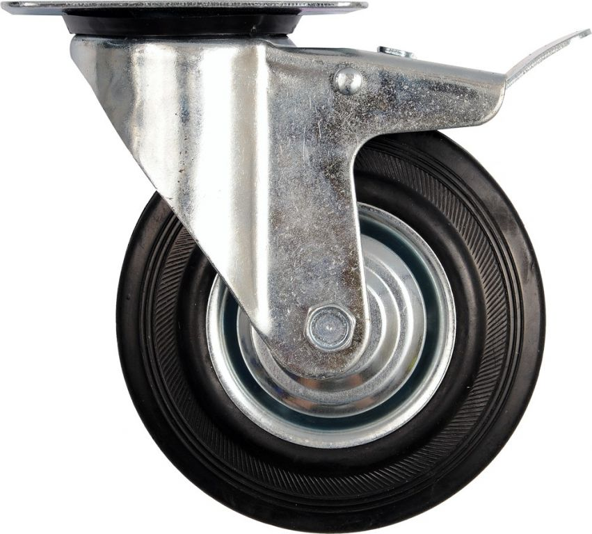 Vorel Kolečko otočné s brzdou, gumové 40kg 75/23/97mm