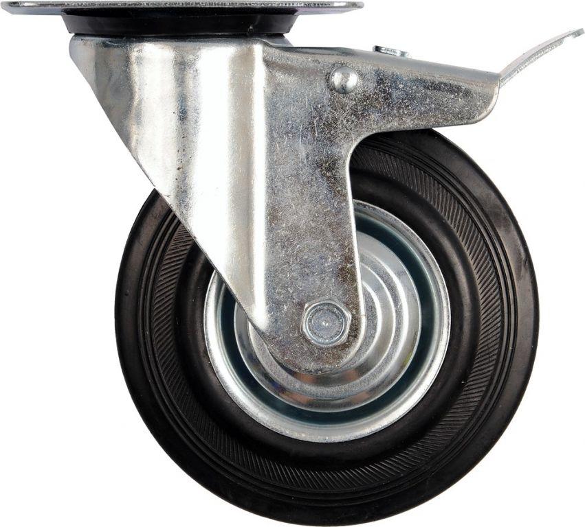 Vorel Kolečko otočné s brzdou, gumové 130kg 160/40/195mm