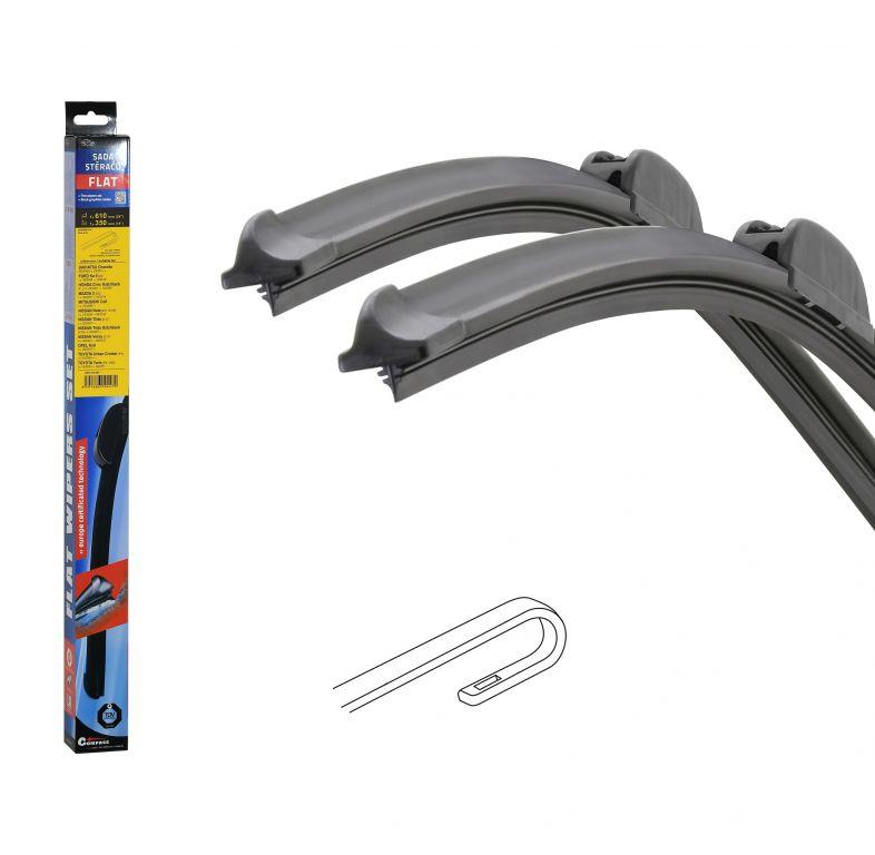 Stěrače FLAT SET (HOOK) 610 + 350 mm