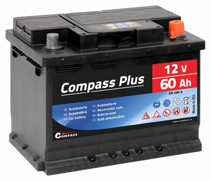 Compass PLUS 12V 60Ah 480A am27563