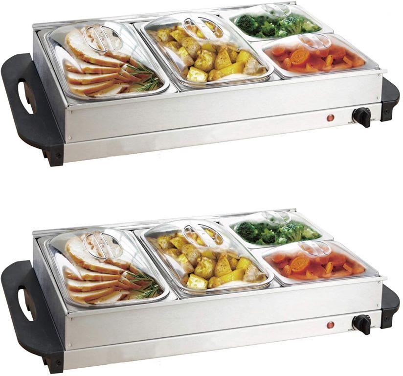 Jago 74071 Multifunkční bufetový ohřívač jídel, sada 2 kusů, 150 W