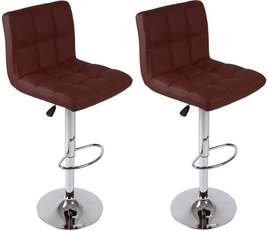 Miadomodo 74107 Sada barových židlí, červená, 2 ks