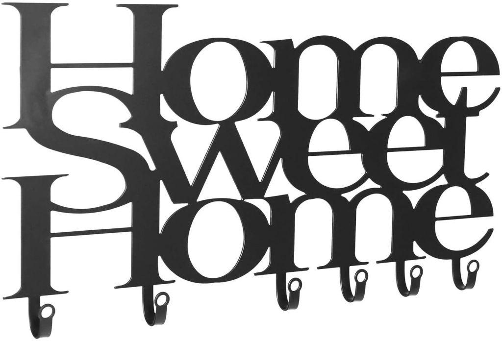 Miadomodo 75110 Nástěnný věšák se šesti háčky, Home Sweet Home