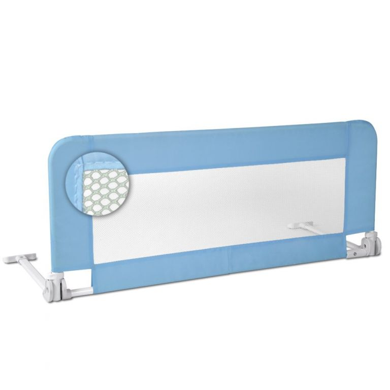 Infantastic 75114 Dětská zábrana na postel, 102 cm, modrá