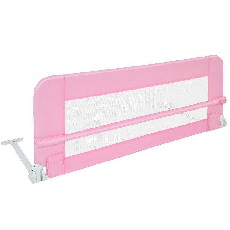 Infantastic Dětská zábrana na postel, 102 cm, růžová