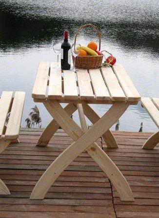 WOOD 2722 Zahradní dřevěný stůl STRONG přírodní FSC