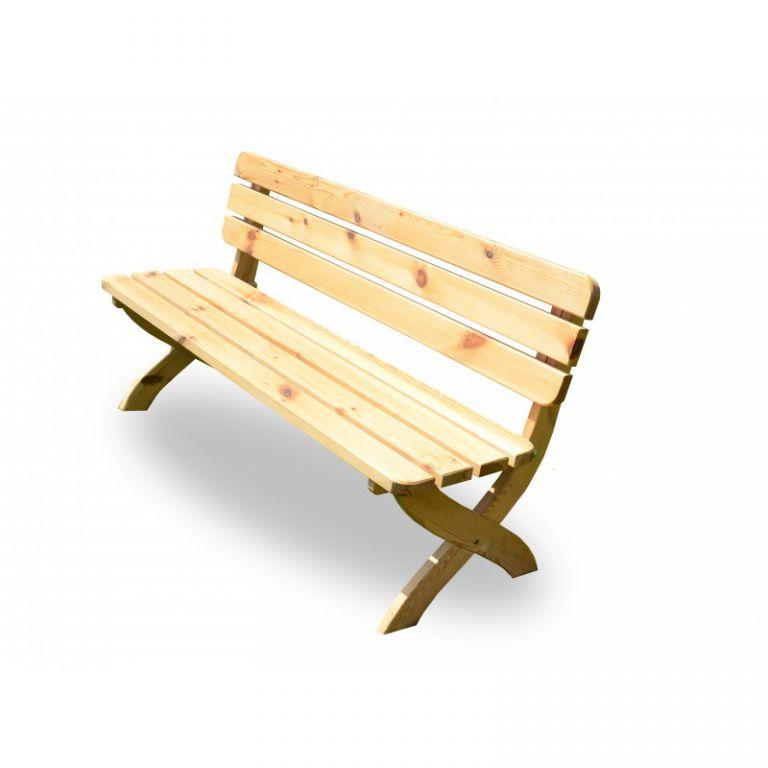 Tradgard 2724 Zahradní dřevěná lavice STRONG přírodní FSC 150 cm