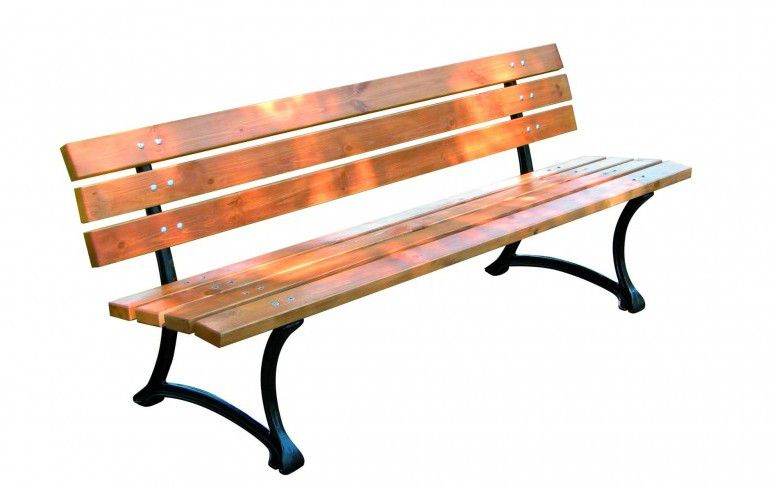 WOOD 2747 Dřevěná zahradní parková lavice FSC