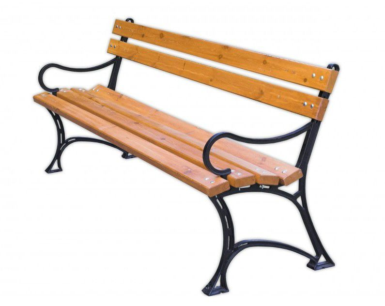 WOOD 2748 Zahradní parková lavice s područkami FSC
